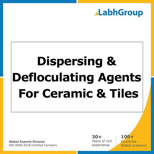 Dispersing & defloculating agents for ceramic & tiles