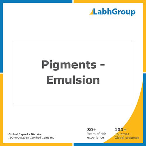 Pigments - emulsion