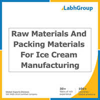 Ingredients and packing material for ice cream manufacturing