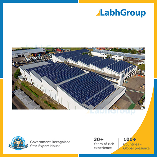 Solar panel for factories