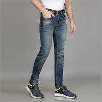 Mens Regular Fit Faded Lycra Jeans