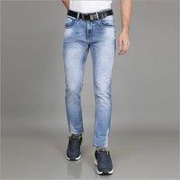 Mens Comfort Fit Faded Denim Jeans