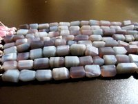 Natural Lavender Blue Opal Nugget Tumbled 9-10mm beads Strand 8 inch Long
