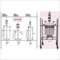 Jacketed Glass Reactor Distillation Unit