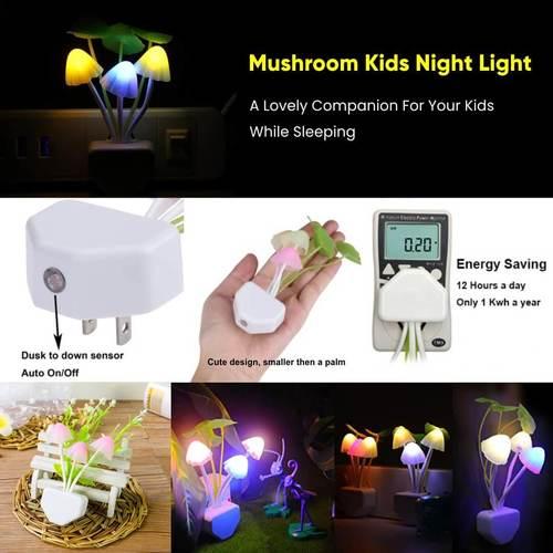 Mushroom Kids Night Light
