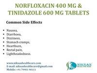Norfloxacin 400 Mg Tinidazole 600 Mg Tablets