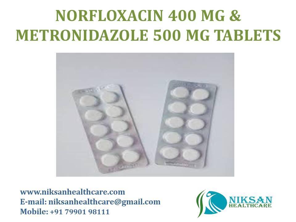 Norfloxacin 400 Mg Metronidazole 500 Mg Tablets