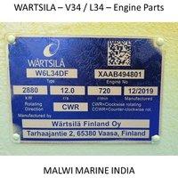 Wartsila-16V34-12V34-9L34-8L34-6L34SG-6L34DF ENGINE PARTS