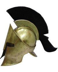 Cross Mark 300 Movie King Leonidas Spartan Helmet with Black Plume