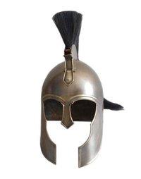 Troy Movie king's Helmet ~ Antique Troy Armor Helmet with Black Plume