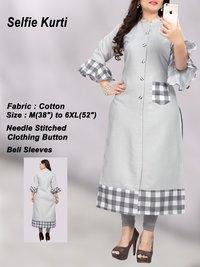 Designer Plus Size Jumbo Cotton Kurti