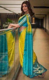 Ladies Soft Lichi Silk Cloth Saree