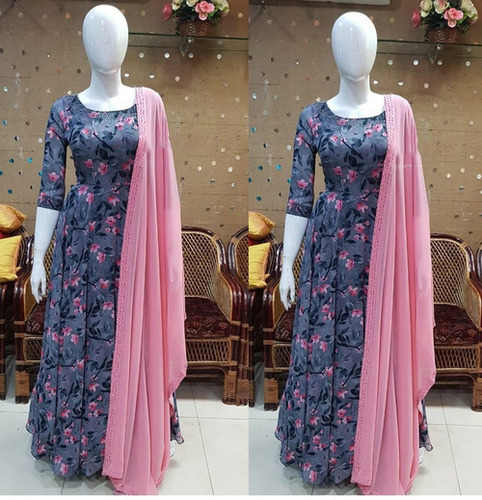Anarkali Kurti With Dupatta