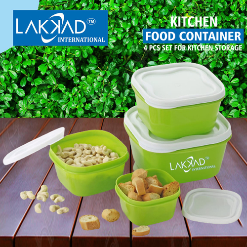 Airtight Container 4 Pcs Set for Kitchen Storage