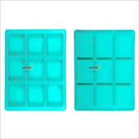 Silicone Rubber Soap Mold 75gms Rectangle 9 Cavities