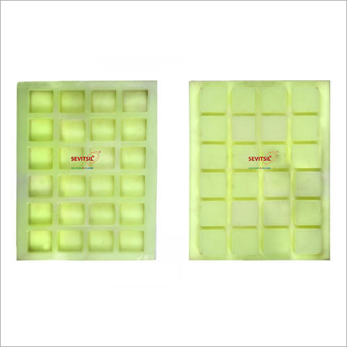 Silicone Rubber Soap Mold 25gms Square 24 Cavities