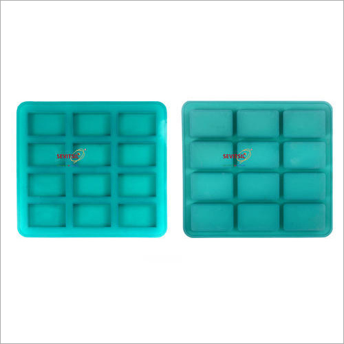 Silicone Rubber Soap Mold 25gms Rectangle 12 Cavities