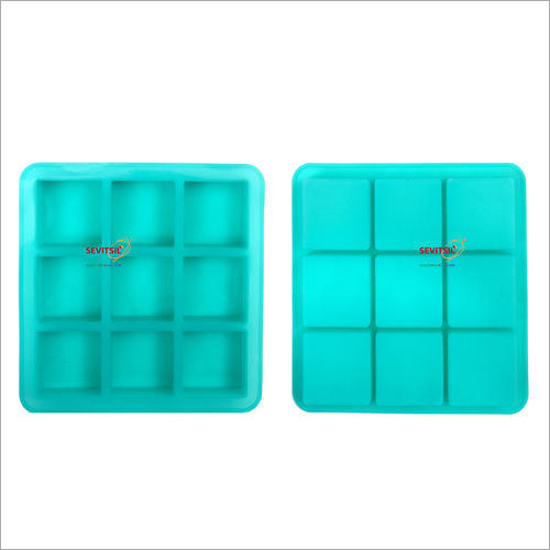 Silicone Rubber Soap Mold 100gms Square Shape 9 Cavities