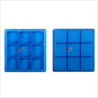 Silicone Rubber Soap Mold 125gms Square 9 Cavities