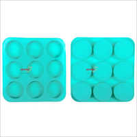 Silicone Rubber Soap Mold 125gms Round 9 Cavities