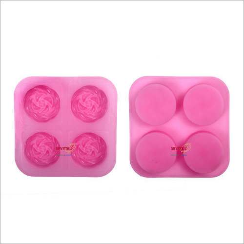 Silicone Rubber Mold 70gm Blooming Rose 4 Cavities