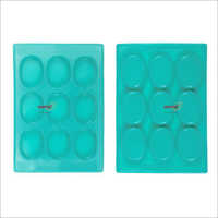 Silicone Rubber Soap Mold 75 gm Oval 9 Cavities