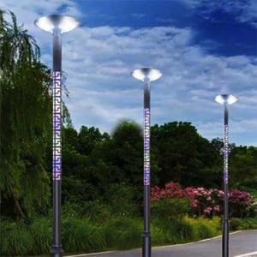 Solar UFO Garden Post Light