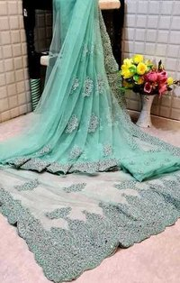Fancy Butterfly Net Saree
