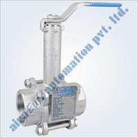 3 Piece Design Extended Shaft Floating Ball Valve