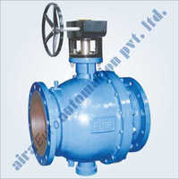 2 Piece Design Spring Loaded Trunnion Mounted Ball Valve