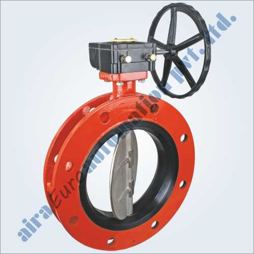 Rubber Lined Wafer Type Double Flange Butterfly Valve