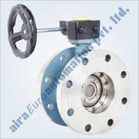 Double Eccentric Off Set Disc Double Flange Butterfly Valve