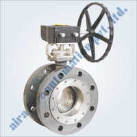 Triple Eccentric Double Flange Butterfly Valve Metal & Soft Seated