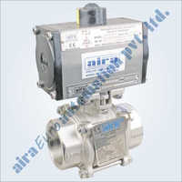 Pneumatic 3 PC Design Floating Ball Valve