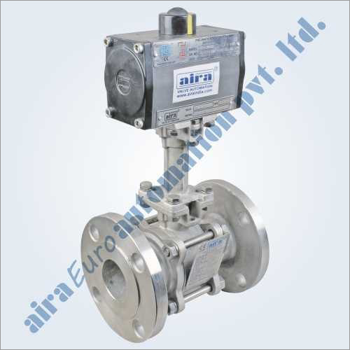 Pneumatic 3 Pc Design Extended Shaft Floating Ball Valve