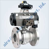 Pneumatic 2 PC Design Floating Ball Valve