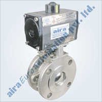 Pneumatic Wafer Type Floating Ball Valve