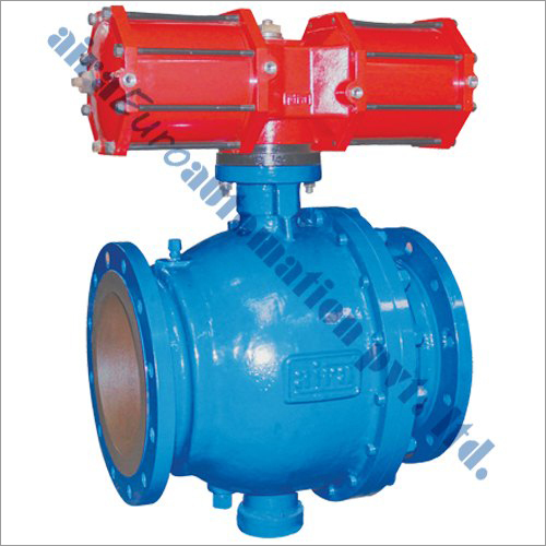 Pneumatic Spring Loaded Trunnion Mounted Ball Valve As Per API 6D
