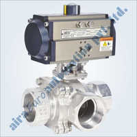 Pneumatic C Way 3 Way Floating Ball Valve