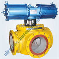 Pneumatic 3 Way - 4 Way Trunnion Ball Valve