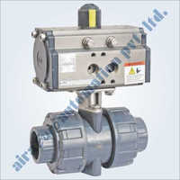 Pneumatic UPVC 2 Way Ball Valve