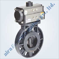 Pneumatic UPVC Butterfly Valve