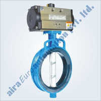 Pneumatic Rubber Lined Wafer Type Butterfly Valve