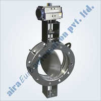 Pneumatic Double Flange Fabricated Damper Valve