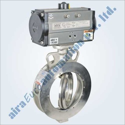 Casting Pneumatic Double Eccentric Off Set Disc Wafer Type Butterfly Valve