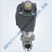 2-2 Way Aluminium Actuator Angle Type Bolted Design On-Off Control Valve