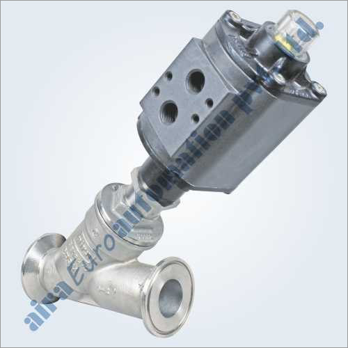 2-2 Way Aluminium Actuator Angle Type Triclover Ends On - Off Control Valve