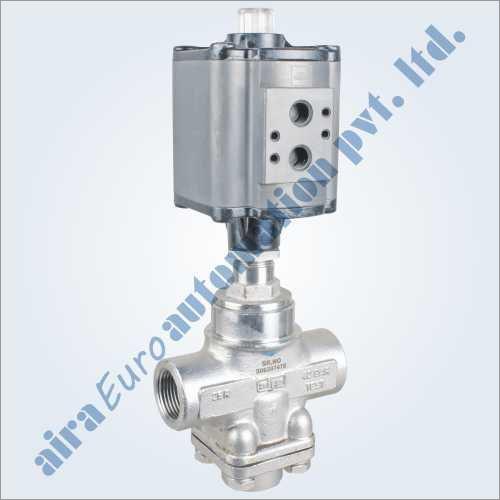3-2 Way Aluminium Actuator Straight Type Mixing & Diverting High Pressure Control Valve