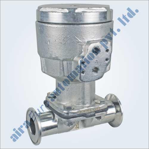 Pneumatic Cylinder Stainless Steel Single Acting Pharma Diaphragm Valve