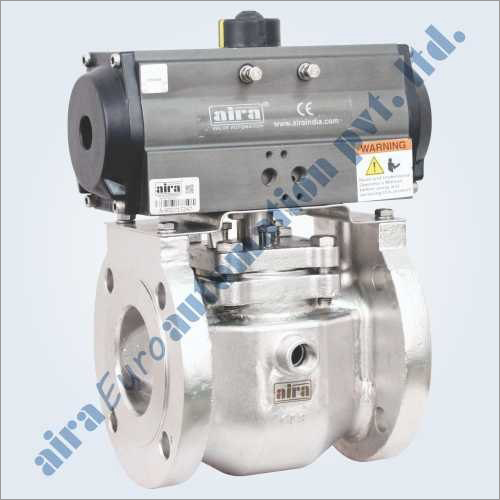 Pneumatic 2 Way Plug Valve Flanged Jacketed